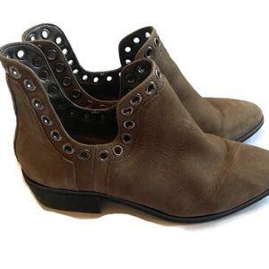 Gianni Bini leather upper bootie